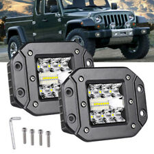 78W LED Truck Off Road Front Bumper Flush Mount Work Flood Spot Fog 1 Pair Light