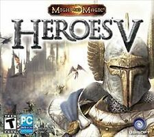 Heroes of Might and Magic V (PC, 2009) Rated T for Teen, 4 disc set