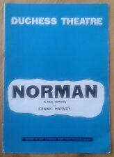 Norman programme Duchess Theatre 1962 Frank Harvey Kathleen Harrison Bernard Lee