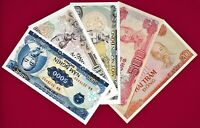 LOT OF FIVE VIETNAM UNC (1988-1991) BANKNOTES: 200, 500, 1000, 2000, & 5000 DONG