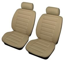 Shrewsbury Beige Leather Look Front Car Seat Covers For Chevrolet Alero, Aveo