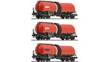 Roco 37636, 3er Set Knickkesselwagen, GATX, Neu und OVP, TT