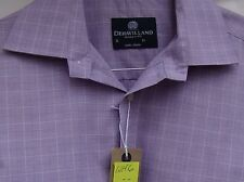 Checked Long Double Cuff Formal Shirts for Men's Singlepack