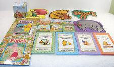 Disney Winnie Pooh Piglet Eeyore Tigger 1st Concepts Lot of 16 Kids Story Books