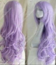 UKJF314 New Cos light purple long curly cosplay health hair  wigs for women wig