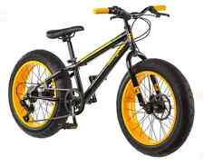 Mongoose 20 inch Fat Tire Bike Boys Bikes Massif 7-Speed Boy Mountain Bicycles