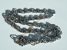 Collier Chaine Acier Inox Maille Double entremelés 6 mm