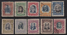 Costa Rica Scott 59/68 1907 Issue USED CV$158