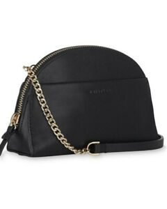 WHISTLES black leather micro mini vanity CORSO  bag crossbody chain RRP £89