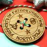 Father Christmas Santa Claus Lost Button Large 45mm diameter Wooden NOT plastic