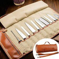 10 Slots Chef Knife Roll Bag Holder Bag Portable Cook Knife Storage Case
