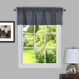 "Sydney Plaid Decorative Kitchen Window Curtain 14"" Valance"