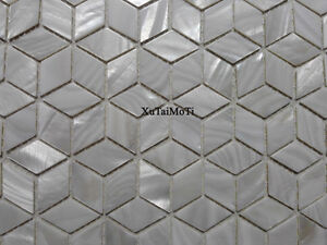 New Style Rhombus white shell mosaic tile mother of pearl background tile