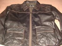 Austin Reed Leather Jacket XL