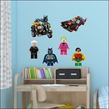 Batman Movie Lego Charactors Wall Sticker Transfer Individual - Full Set 6 Decal