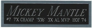 MICKEY MANTLE NEW YORK Yankees NAMEPLATE FOR AUTOGRAPHED Signed BASEBALL JERSEY