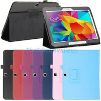 Folio Leather Case Cover For Samsung Galaxy Tab 4 10.1' SM-T530 Tablet