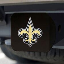 New Orleans Saints Heavy Duty 3-D Color Emblem Black Chrome Metal Hitch Cover