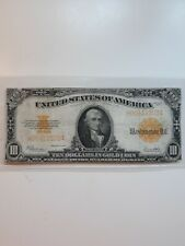 1922 United States $10 Gold Certificate Note Speelman White Fr. 1173
