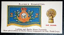 Lothians and Border Horse Yeomanry    Vintage 1920's Insignia Card # VGC
