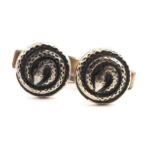 Pair Vintage snake design metal cuff links accessories