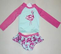 Gymboree Girls Flamingo Rashguard Swimsuit 6-12 12-18 18-24 2T 4T NWT