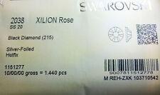 100 Genuine Swarovski Flat Back   HotFix 2038 SS20 5mm Black Diamond JCE11