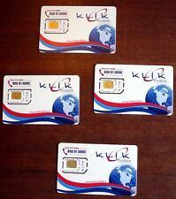 COLLEZIONISMO 4 quattro SIM CARD KLIK MOBILE