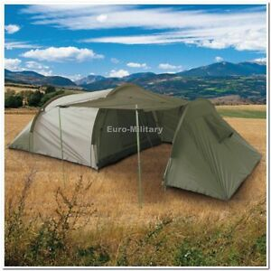 Professional Army Outdoor Camping 3 Men Tent + Storage Space - OD Green - New