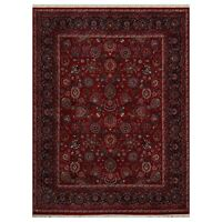 8'  x 10' Hand Knotted 100% Wool Kashaan Oriental Area Rug Burgundy 8x10
