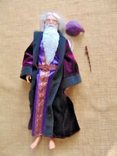 "HARRY POTTER PROFESSOR ALBUS DUMBLEDORE 12"" ARTICULATED DOLL WIZARD wand robe"