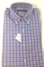 Ralph Lauren hombre azul y verde manga corta a medida camisa Vichy