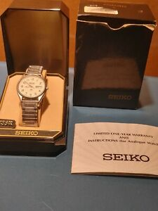 Men's Seiko Railroad Approved 5H23-8A09 Wrist Watch Stretchable Band