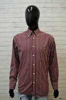 Camicia Uomo LACOSTE Taglia 42 XL Camicetta Manica Lunga Shirt Righe Hemd Maglia