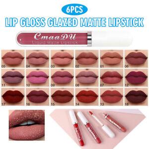 6pcs/Set Long Lip Gloss Matte Velvet Liquid Lipstick Lip Long Lasting Makeup