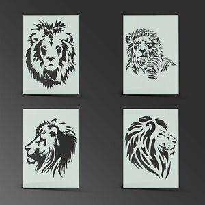 Lion Stencil Mylar Leo Shabby Chic Sheet Painting Wall Art Kids190 Micron