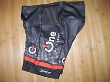 ZOOT Shorts TRI TRIATHLON Size MEDIUM Nylon Spandex BLACK Red ONE MULTISPORT