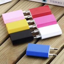 Adaptador de Corriente USB Europeo Pared Enchufe de la UE Cargador de viaje para iPhone Samsung HTC LG