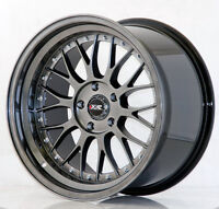 "Lenso Venom 3 18/"" 9J 11J staggered alloy wheels stance drift race deep concave."