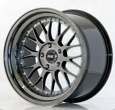 "XXR 521 18"" x 8.5J ET25 5x114.3 CHROME BLACK WIDE RIMS ALLOYS WHEELS Z3487"