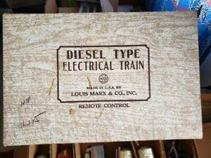 #44544 Marx Diesel Type Electrical Train w/ Remote Control & Original Box