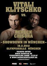 Vitali Klitschko gegen Dereck Chisora world title fight Poster 2012