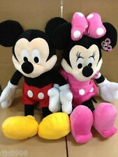 """DISNEY 18"""" MICKEY MOUSE & MINNIE MOUSE COMBO PLUSH TOYS-LICENSED STUFFED TOY"""