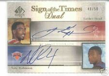 05-06 SP AUTHENTIC NATE ROBINSON LUTHER HEAD AUTO 48/50