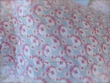 Double Bed Skirt Valance Antique Sampler Shabby Floral Rosebud Garlands Chic New