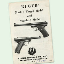 RUGER MARK I INSTRUCTIONS PARTS OWNERS GUN MANUAL 1 ONE DIAGRAMS VIEW ASSEMBLY