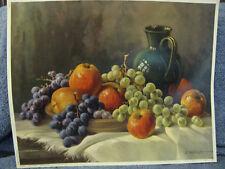 Fruit & Vase On Table Print- Krugen- Western Germany