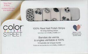 Color Street Nail Polish Strips Dream Team Sports Overlay USA Made