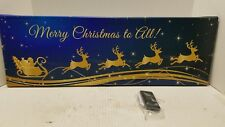 Twinklebright Led Classic Christmas Canvas 17S234C-Merry Christmas to All!