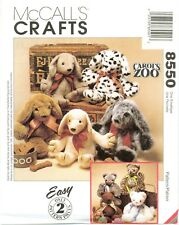 McCalls 8550 Carols Zoo Cat Puppy Dog 16 inch 41cm doll pattern Easy UNCUT FF